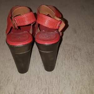 Lucky Brand Shoes - Lucky Brand red studded leather strappy heels